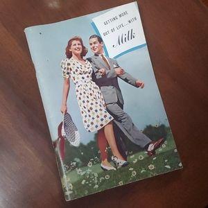 🦕3/$10 1940 NY Milk Propaganda Recipe Book